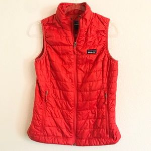 Patagonia red down better sweater vest XS